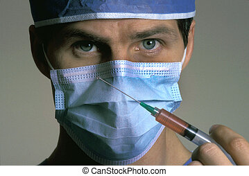 fecskendő, sebész, hím, birtok