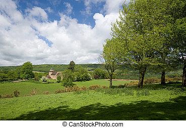 fedeles bricska, vidéki táj, wotton