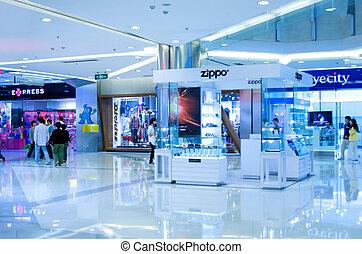 fedett sétány, shanghai, bevásárlás