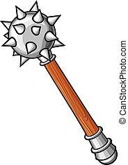 fegyver, ősi, -, jogar, középkori