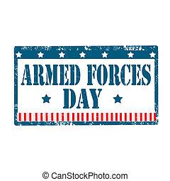fegyveres, day-stamp, erőltet