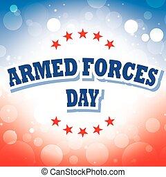 fegyveres erők, transzparens, nap