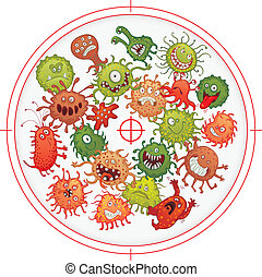 fegyverrel kényszerítve, baktérium, csíra