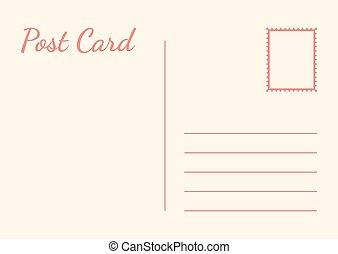fehér, ábra, vektor, háttér., kártya, postai, elszigetelt