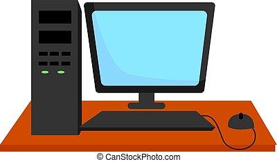 fehér, ábra, vektor, számítógép, háttér.