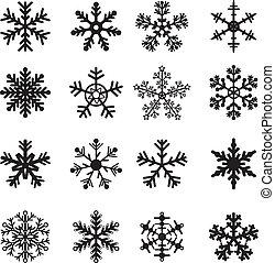 fehér, állhatatos, fekete, hópihe