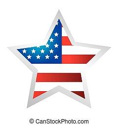 fehér, alakít, egyesült, háttér, egyesült államok, csillag, lobogó
