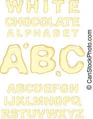 fehér, alphabet., csokoládé
