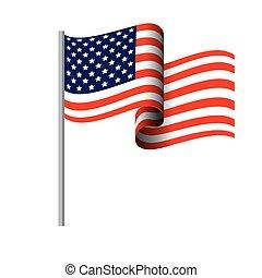 fehér, amerika, összehangol megállapít, háttér, lobogó