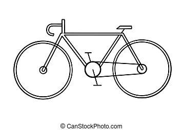fehér, bicikli, rajz, háttér
