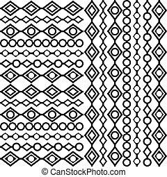fehér, black háttér, geometrikus