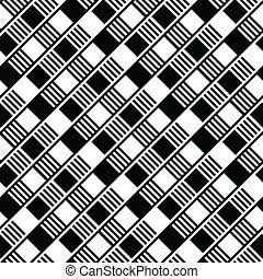 fehér, blokkok, fekete, seamless, háttér