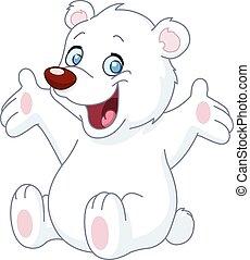 fehér, boldog, hord, teddy-mackó