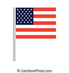 fehér, egyesült, háttér, egyesült államok, lobogó