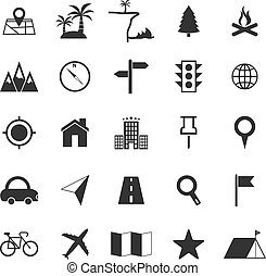 fehér, elhelyezés, háttér, ikonok