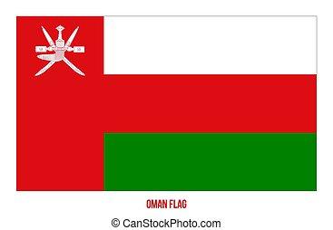 fehér, flag., háttér., ábra, omán, nemzeti, vektor, lobogó