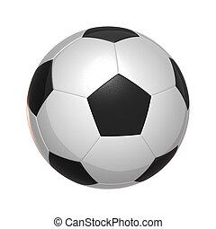 fehér, futball, elszigetelt, labda