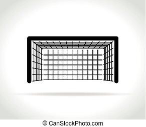 fehér, gól, háttér, ikon
