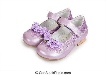 fehér, gyermekek s, cipők