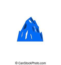 fehér, hegy, hegyek, ikon, kék, tervezés