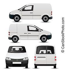 fehér, jármű, kereskedelmi, mockup