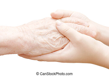 fehér, kézbesít, öreg, elszigetelt, fiatal