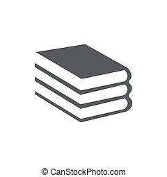 fehér, könyv, elszigetelt, háttér, ikon
