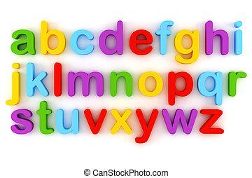 fehér, levél, háttér, színes, 3