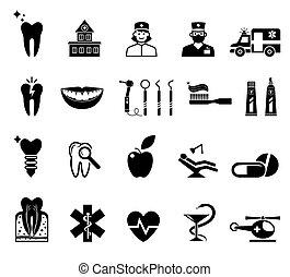 fehér, orvosi icons, háttér.