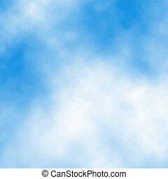 fehér, részletez, felhő