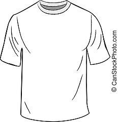 fehér, sablon, tervezés, póló
