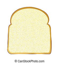fehér, szelet, bread