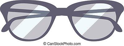 fehér, szemüveg, elszigetelt, háttér.