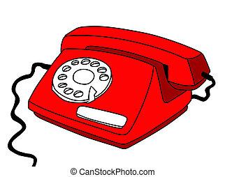 fehér, telefon, háttér, rajz