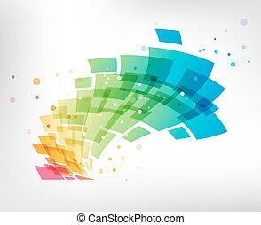 fehér, tervezés, háttér, színes, elem