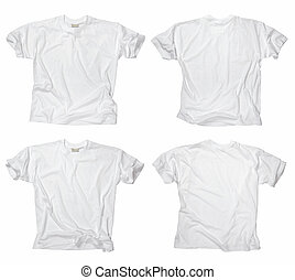 fehér, tiszta, trikó