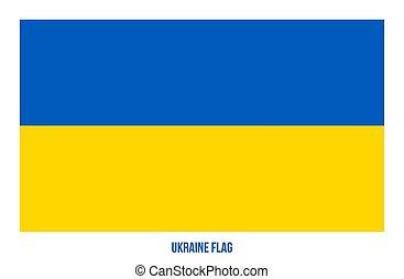 fehér, ukrajna, flag., háttér., ábra, nemzeti, vektor, lobogó