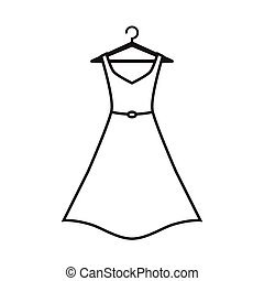 fehér, vállfa, ruha