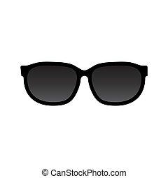 fehér, vektor, napszemüveg, háttér, elszigetelt, ikon
