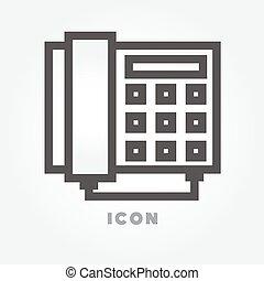 fehér, vektor, telefon, háttér, ikon