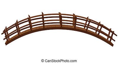fehér, wooden bridzs, elszigetelt