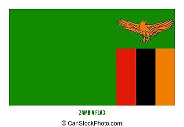 fehér, zambia, flag., lobogó, háttér., ábra, nemzeti, vektor