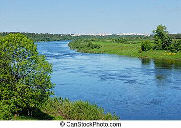 fehéroroszország, folyó, dvina, western