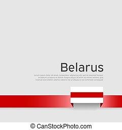 fehéroroszország, szalag, nemzeti, transzparens, befest, állam, háttér., belarusian, lobogó, vektor, fehér, lakás, design., poster., hazafias, fedő