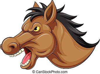 fej, amerikai félvad ló, kabala