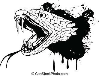 fej, kígyó