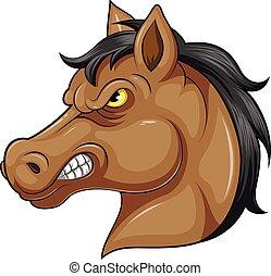 fej, kabala, ló, mérges