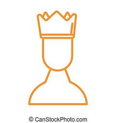 fejtető, királyi, nyertes, emberi