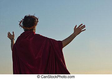 fejtető, tövis, krisztus, jézus