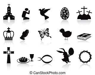 fekete, állhatatos, húsvét, ikonok